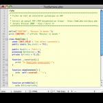 Coloration syntaxique du PHP dans TextMate
